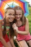 Filles avec le parapluie Image stock