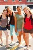 Filles d'école Image stock