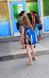 Filles d'école Photos libres de droits