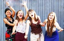 Filles d'étudiants Photo libre de droits