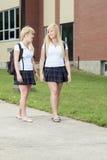 filles d'amusement ayant à l'extérieur d'adolescent Images libres de droits