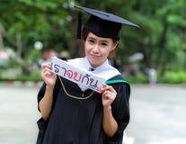 Filles d'Asiatique d'obtention du diplôme Photographie stock