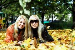 Filles d'automne Image stock