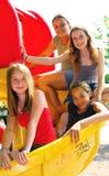 Filles d'école Photo stock