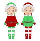 Filles d'elfe de Noël illustration libre de droits