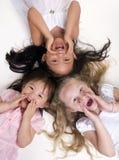 Filles d'enfance Images libres de droits