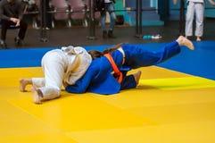 Filles dans le judo Images libres de droits