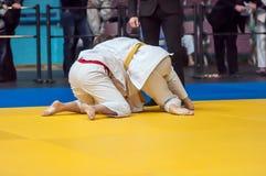Filles dans le judo Photos stock