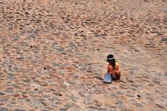 Filles dans le village de pêche de Ne de Mui Photographie stock libre de droits