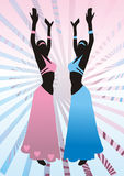 Filles dans les procès, danse est Image libre de droits
