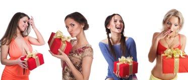 filles de cadeaux Image stock