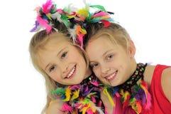 Filles de carnaval Photographie stock