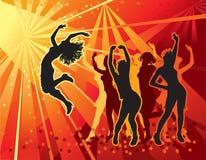 Filles de danse Images libres de droits