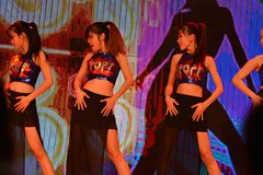 Filles de danse sexy image libre de droits
