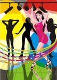 Filles de danse sexy Images stock