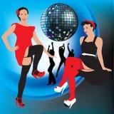 Filles de disco Photos libres de droits
