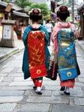 Filles de geisha Photos libres de droits