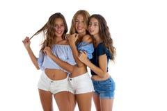 Filles de l'adolescence de meilleurs amis de Thee heureuses ensemble Image libre de droits