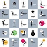 Filles de logo de vecteur Image libre de droits