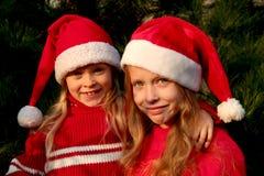 Filles de Noël Photographie stock