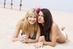 filles de plage images libres de droits