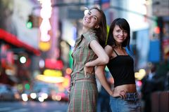 Filles de ville Photographie stock libre de droits