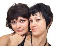 filles deux heureux Image stock