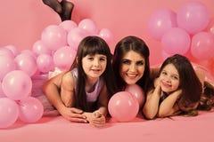 Filles du ` s de mère Amour, mode, pastels ivres, célébration Images stock