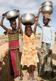 Filles en Afrique Image libre de droits