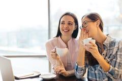 Filles en café Image libre de droits