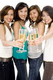 Filles et Champagne Photo stock