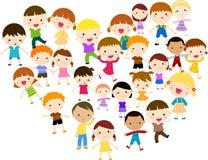 Filles et garçons heureux Images libres de droits