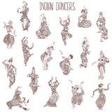 Filles indiennes de danse illustration stock