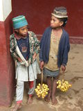 Filles indigènes malgaches Photos libres de droits