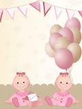Filles jumelles nouveau-nées Image libre de droits