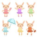 Filles mignonnes de lapin Images libres de droits