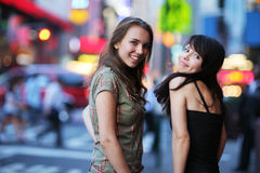 Filles neuves de ville de Yourk Images stock