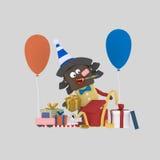 Filles ouvrant des cadeaux 3d illustration stock