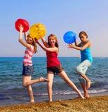 Filles sur la plage Photos libres de droits