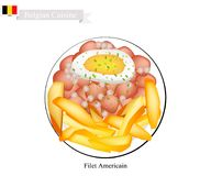 Fillet Americain, A Popular Dish in Belgium Royalty Free Stock Photography