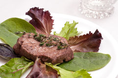 Fillet of beef with thyme Royalty Free Stock Photos