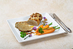 Fillet with carrots Royalty Free Stock Photos
