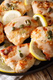 Fillet chicken piccata with lemon, thyme and capers close-up. ve Stock Images