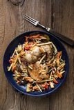 Fillet of chicken with vegetables. stock photography