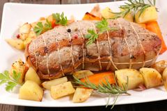 Fillet chop meat stock photo