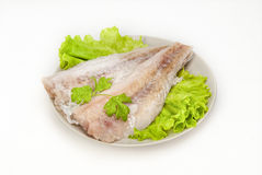 Fillet of a cod Atlantic Stock Photo