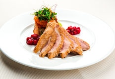 Fillet of duck breast Stock Photography