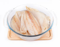 Fillet of Fish Pangasius Stock Photos