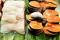 Fillet of fish ready to grilled Royalty Free Stock Image