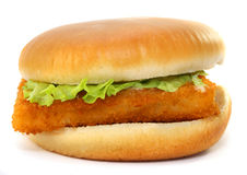 Fillet of fish sandwich Royalty Free Stock Photos